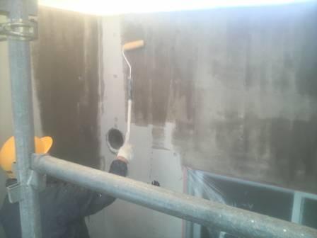 外壁撥水材塗布状況