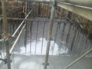 耐圧盤コンクリート打設