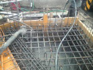 地中梁、1階スラブ コンクリート打設