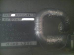 101号室 ミニキッチン ダクト配管状況