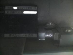 203号室 ミニキッチン ダクト配管状況