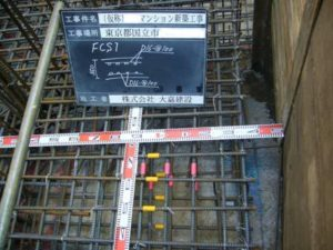 FCS1 板厚 350 短辺方向 上端筋 D16-@100 下端筋 D16-@100 長辺方向 上端筋 D16-@100 下端筋 D16-@100