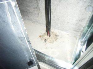 2階床貫通処理 施工後