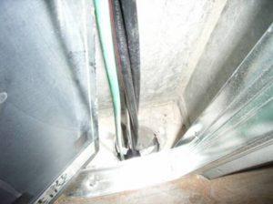 3階床貫通処理 施工前