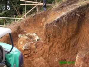 熱海別荘 地盤掘削