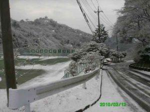 熱海別荘 雪模様