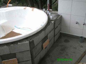 熱海別荘 外部浴槽状況